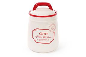 Банка керамическая Coffee 800мл для сыпучих продуктов красная Red&Blue DM007-S