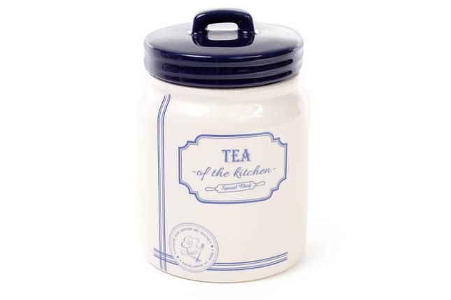 Банка керамическая Tea 900мл для сыпучих продуктов синяя Red&Blue DM108-S, фото 2
