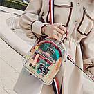 Прозрачный мини рюкзак сумка c  голографическим эффектом., фото 2