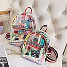 Прозрачный мини рюкзак сумка c  голографическим эффектом., фото 6