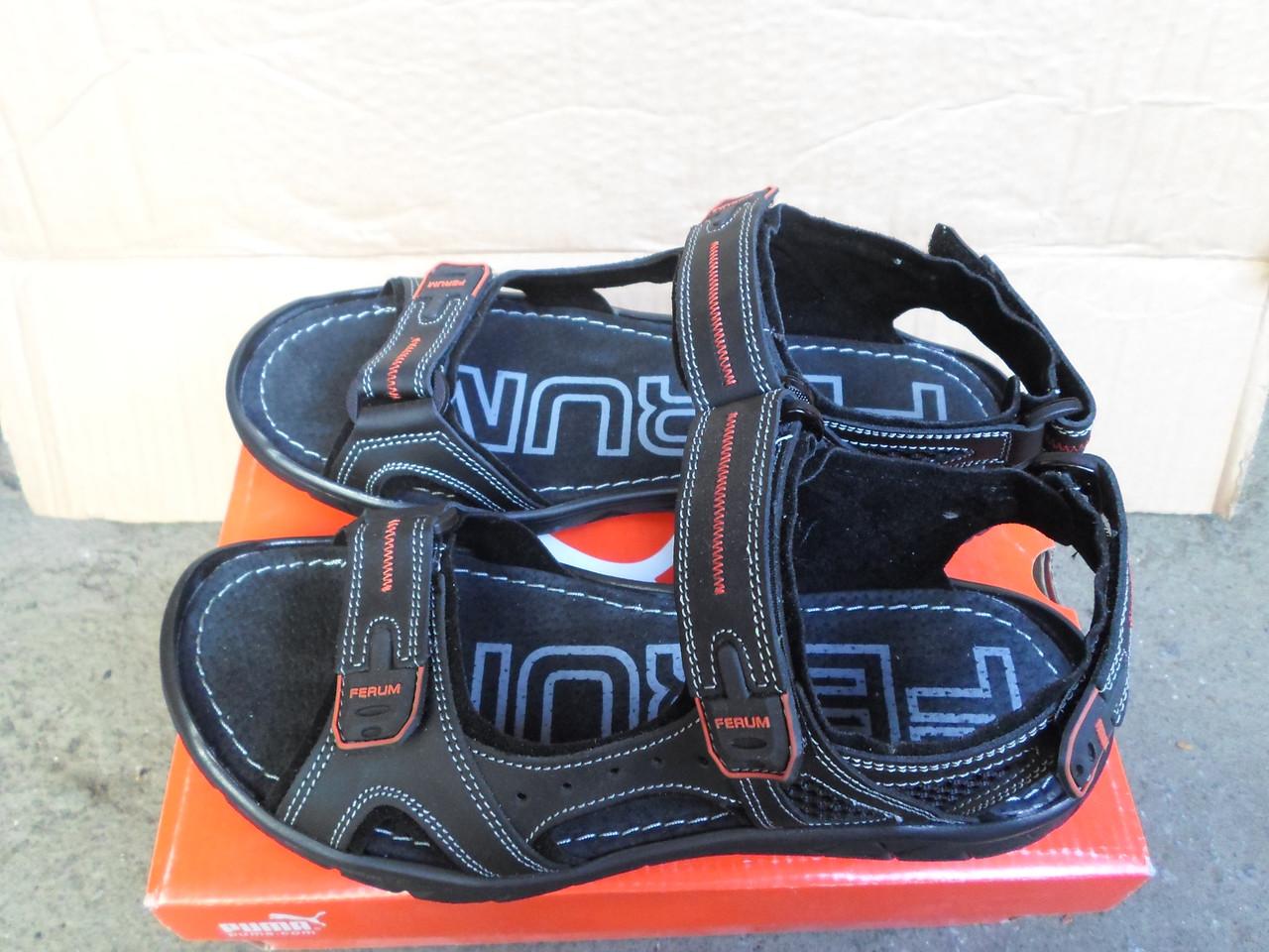 afd6ff4bc5a Летние кожаные мужские сандали на липучках Ferum - Интернет-магазин Дом  Обуви в Хмельницком