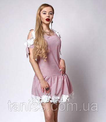 ab8cdc2a091 Летнее молодежное платье из льна