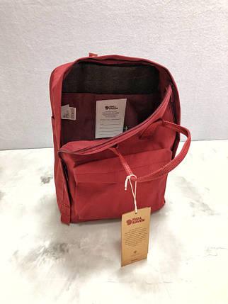 Рюкзак бордовый реплика Fjallraven Kanken, фото 2