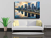 """Картина на холсте """"Линия горизонта в Сан Пауло"""""""