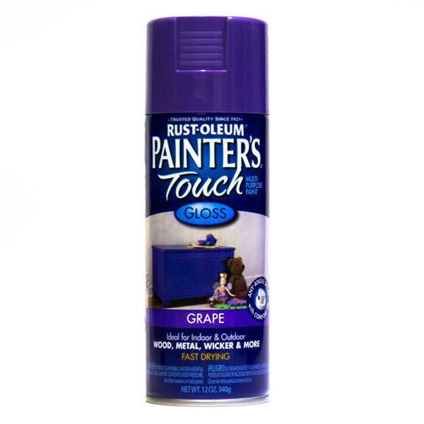 Краска универсальная Painter's Touch, фиолетовая глянцевая, аэрозоль, 0,34кг