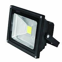 EUROELECTRIC LED Прожектор COB чёрный 10W 6500K classic