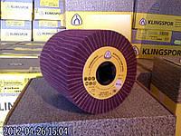 Лепестковый круг 100х100х19 NCW 600 Klingspor  из нетканого абразивного материала и абразивной ткани