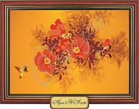 Схема для вышивки бисером  «Маки и колибри»