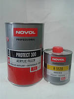 Грунт акриловый 4+1 PROTECT 300 Novol (1л) + отвердитель (0,25л), черный