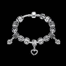 """Браслет на руку в стиле Pandora """"Обольщение"""" покрытие серебро"""