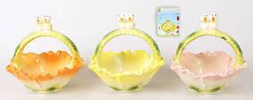 Декоративная корзинка для яиц 13см, 3 вида 23-E221