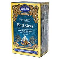 Чёрный байховый крупнолистовой чай Twistea Earl Grey (с Бергамотом) в пирамидках 20*2г