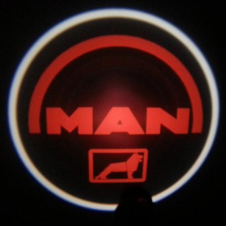 Подсветка логотипа авто на двери Man