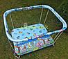 Манеж детский с крупной сеткой Kinderbox Зоопарк