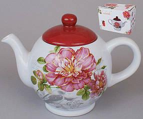 Чайник керамический 1л Райский сад DM488-P