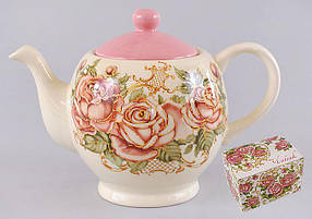 Чайник керамический 1л Розы QF488-R