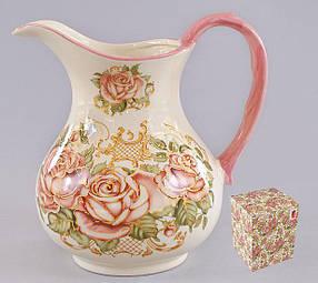 Кувшин керамический 1.2л Розы QF877-R