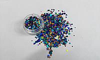 Конфетти, камифубики для дизайна ногтей № 177