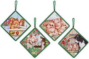 Подставка под горячее квадратная 16см Очаровательные Свинки 858-554