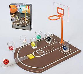Игра настольная Баскетбол питейный (в наборе 4 стопки) 34.5см 7270210