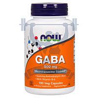 NOW GABA 500 mg для восстановления для сна аминокислоты послетренировочный комплекс спортивное питание