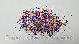 Конфетти, камифубики для дизайна ногтей № 186