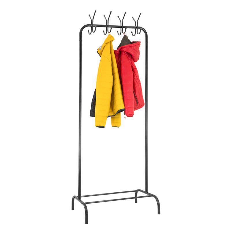Стойка для одежды с крючками Лофт 7 черная (металл)