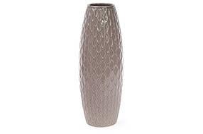 Ваза керамическая 39см, цвет - бежевый глянец 0860021