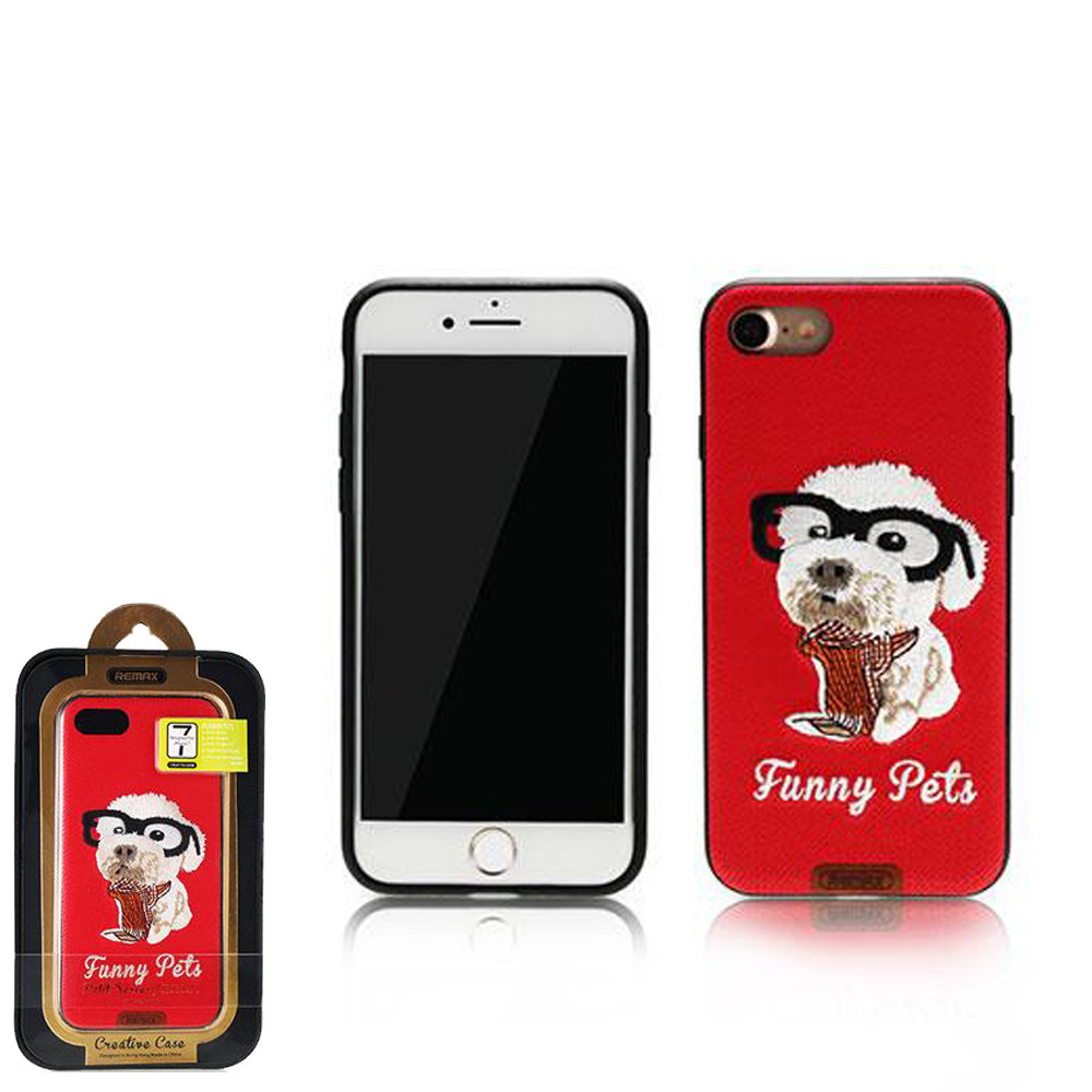 Чехол Remax Funny Pets iPhone 7, Red