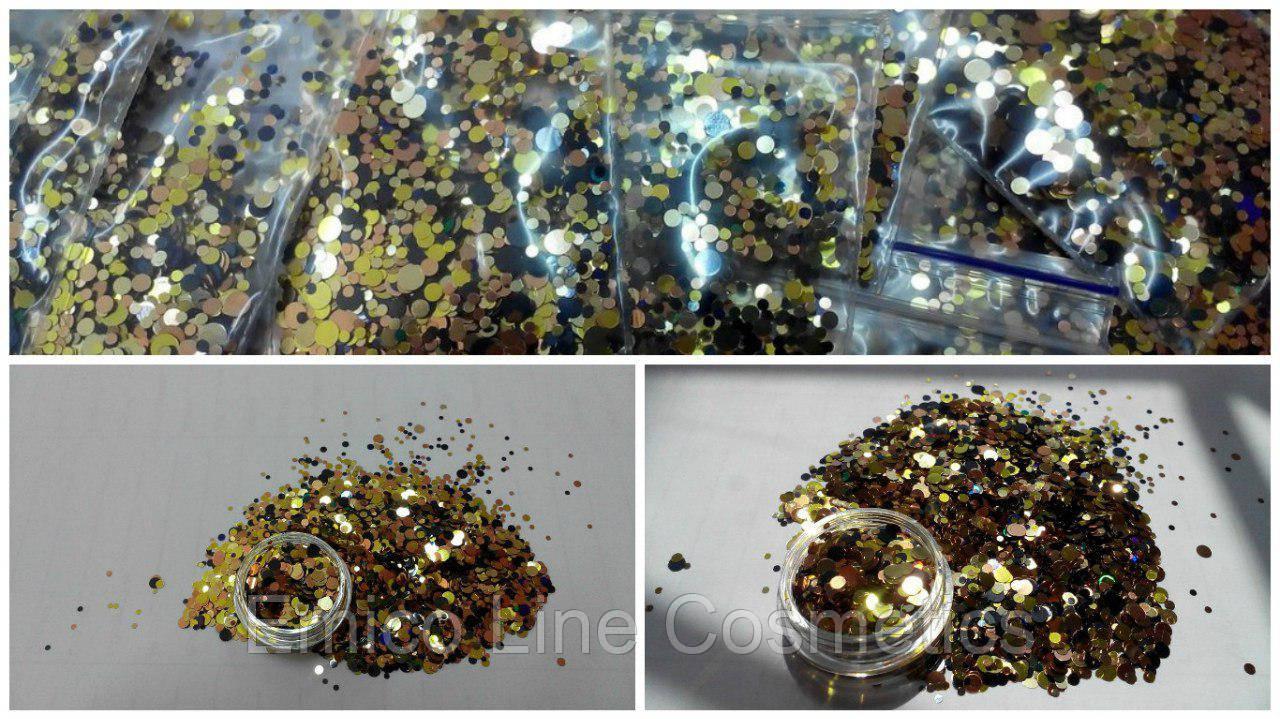 Конфетти, камифубики для дизайна ногтей № 155