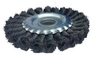 Щетка по металлу дисковая 125*13*28*22,2 для КШМ плетеная