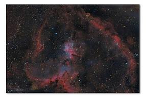 Высококачественный фотопринт Туманность Сердце STAR07
