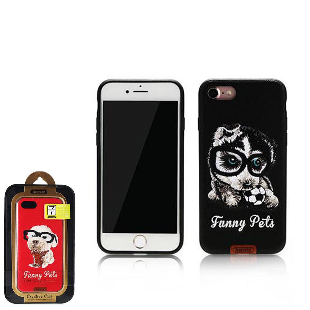 Чехол Remax Funny Pets iPhone 7 Black