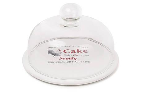 Блюдо керамическое со стеклянным колпаком Family 875-381, фото 2