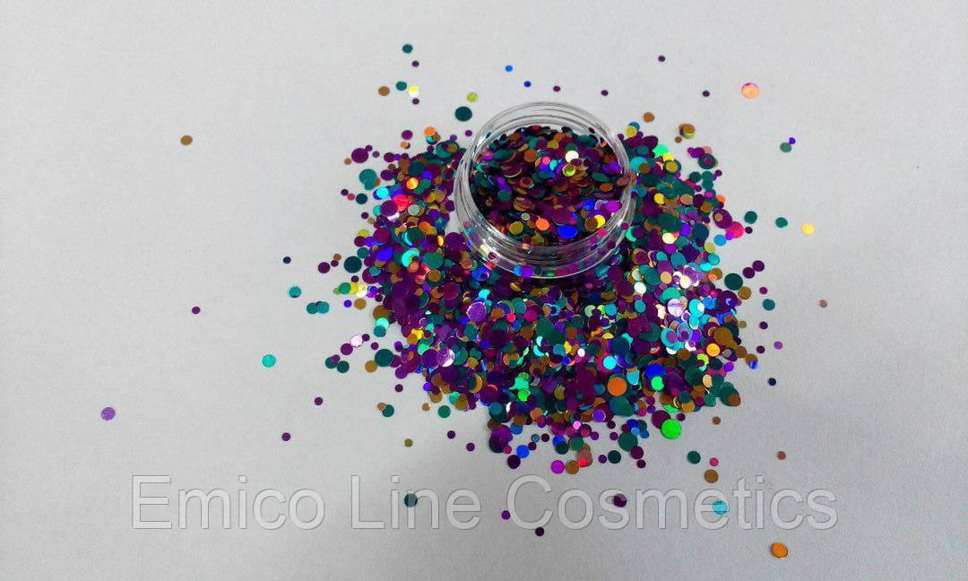 Конфетти, камифубики для дизайна ногтей № 174