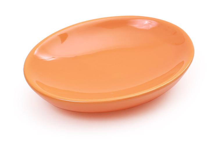 Мыльница керамическая, цвет оранжевый 848-151