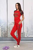 Летний костюм красный