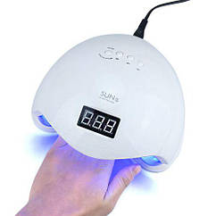 Профессиональная лампа SUN5 с экраном 48W UV+LED с таймером White
