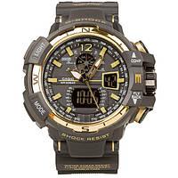 Копия спортивных часов Casio G-Shock GWA-1100 Black-Gold