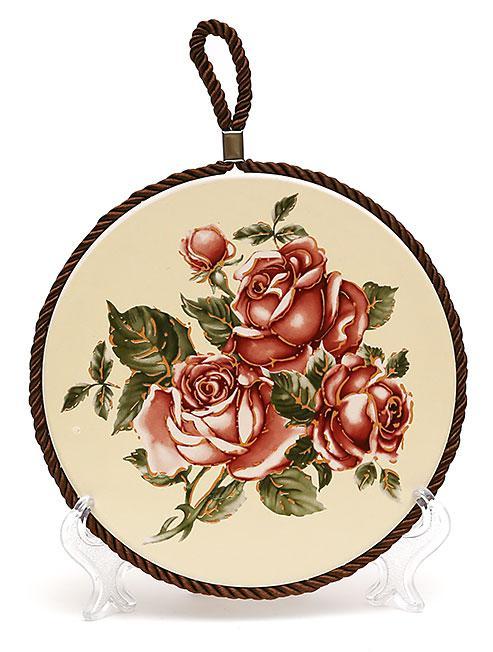 Подставка под горячее 16см Корейская роза XX850