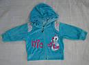Костюм велюровый Гусеничка голубой (р. 68-92) (Nicol, Польша), фото 3