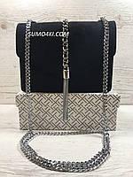 Женская замшевая стильная сумка , фото 1