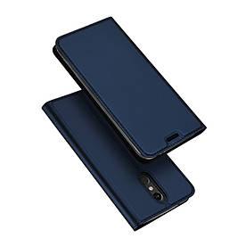 Чехол книжка для LG K8 2018 боковой с отсеком для визиток, DUX Ducis, темно-синий