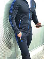 Мужской черно-синий костюм