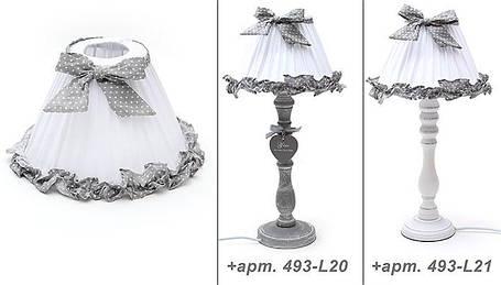 Лампа настольная белая в серый горошек (493-L17)  , фото 2