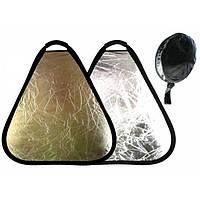 Ручной треугольный фото отражатель, рефлектор 60см