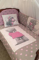 Детский постельный комплект в кроватку Мишки