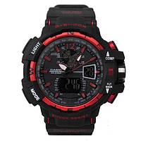 Копия спортивных часов Casio G-Shock GWA-1100 Black-Red