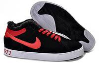 Зимние кроссовки Nike Court Tour black-red, фото 1