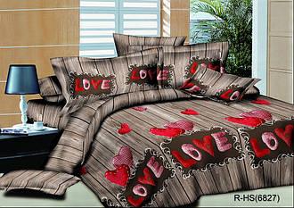 Двуспальный комплект постельного белья 180х220 из ранфорса LOVE